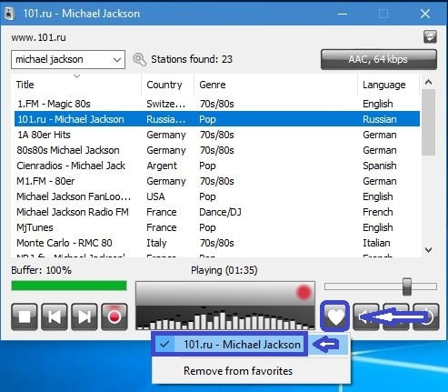 RadioSure, lecteur de Webradios, tutoriel utilisation capture 6