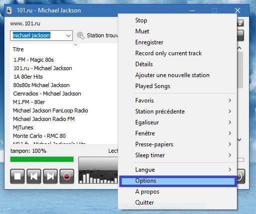 RadioSure, lecteur de Webradios, tutoriel utilisation capture F