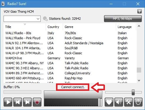 RadioSure, lecteur de Webradios, tutoriel utilisation capture 7