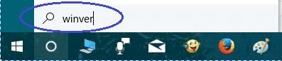 winver vérifier version de windows