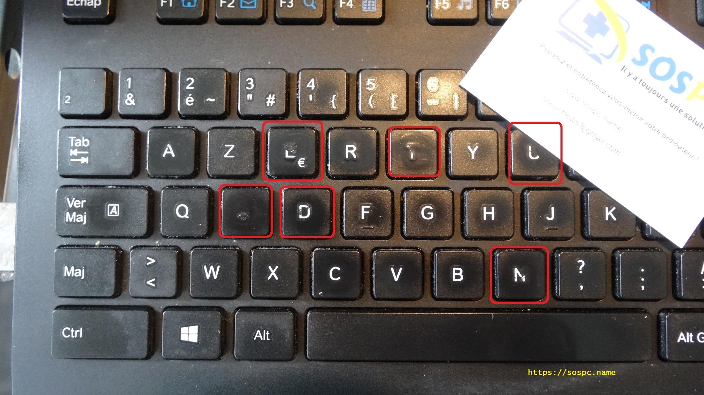 touches clavier effacées solution tutoriel