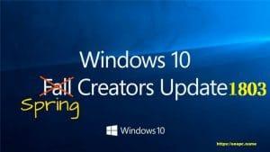 Spring Creators Update 1803