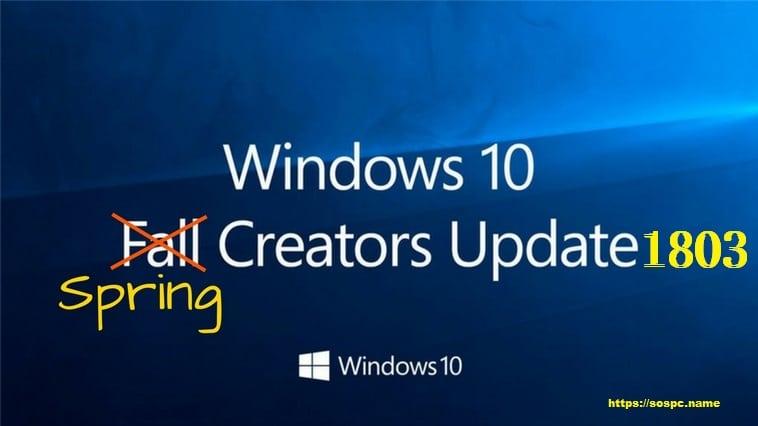 Actu en bref : Windows 10 Spring Creators Update 1803, mes premières impressions.
