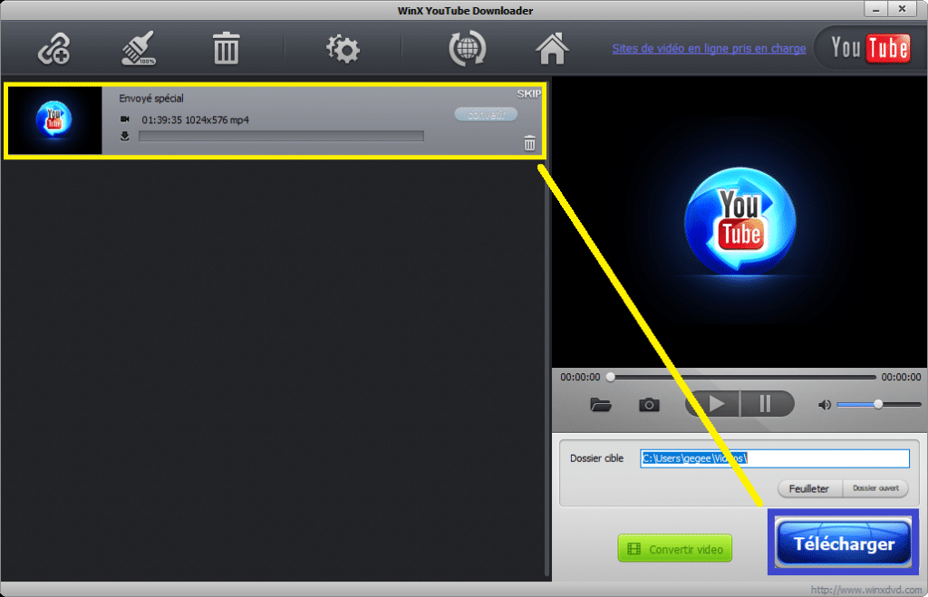 Free WinX YouTube Downloader. tutoriel pas à pas.