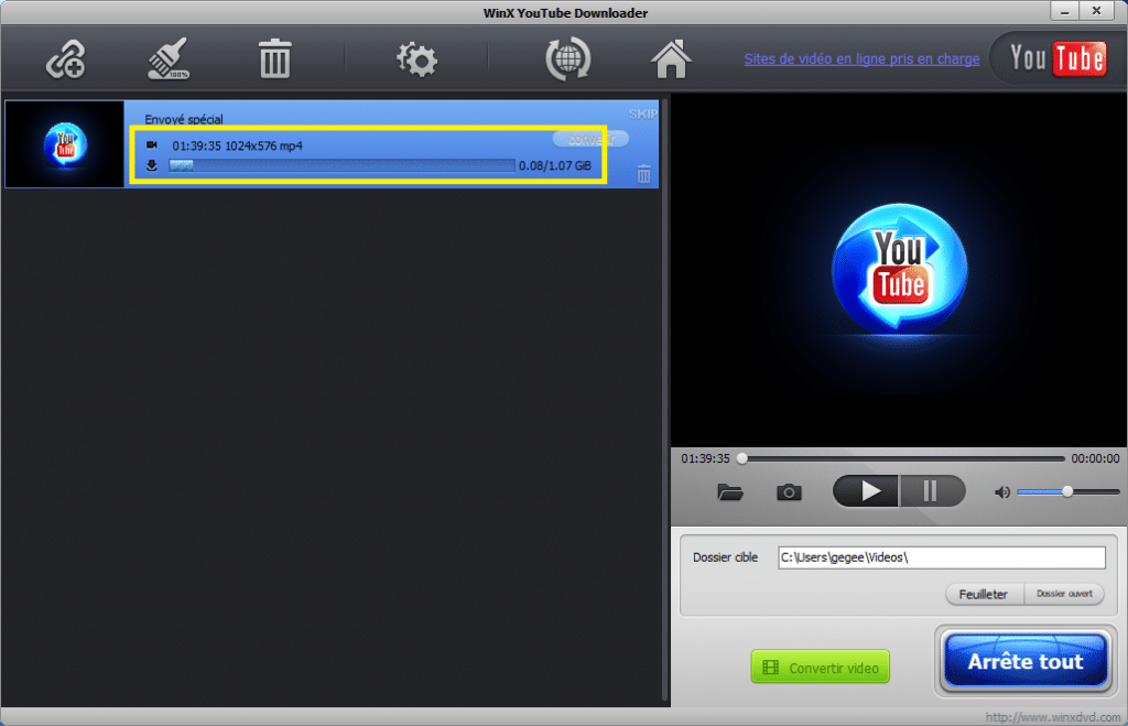 Free WinX YouTube Downloader. gratuit