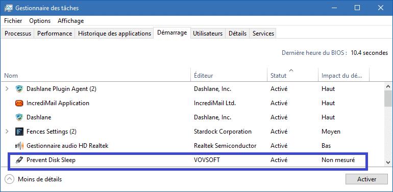 Prevent Disk Sleep, bloquer mise en veille Disques et Clés USB. Tutoriel tutoriel sur www.sospc.name
