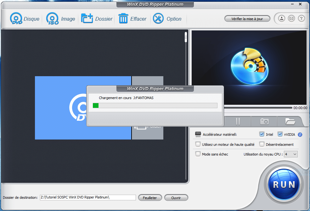 WinX DVD Ripper Platinum tutoriel utilisation capture 2