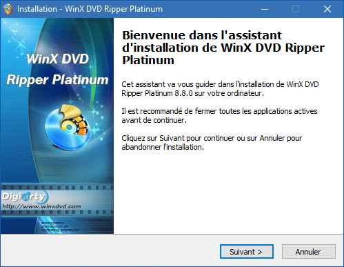 WinX DVD Ripper Platinum installation 2