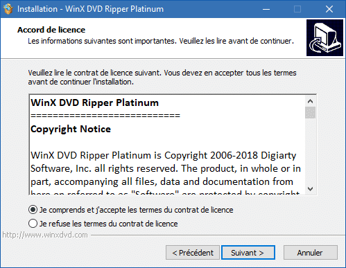 WinX DVD Ripper Platinum installation 3