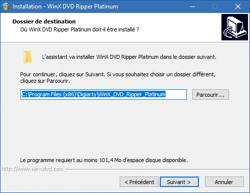 WinX DVD Ripper Platinum installation 4