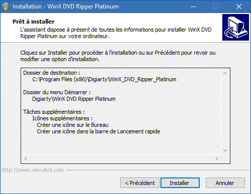 WinX DVD Ripper Platinum installation 7