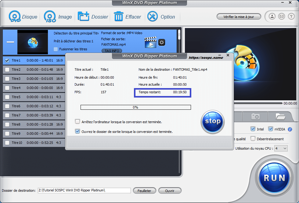 WinX DVD Ripper Platinum tutoriel utilisation capture 5