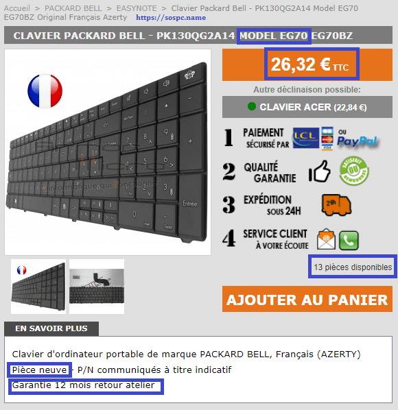 acheter clavier portable