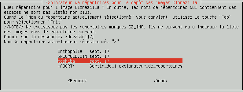 Clonezilla : Backup/Clonage de Disque, tutoriel sospc.name capture 7