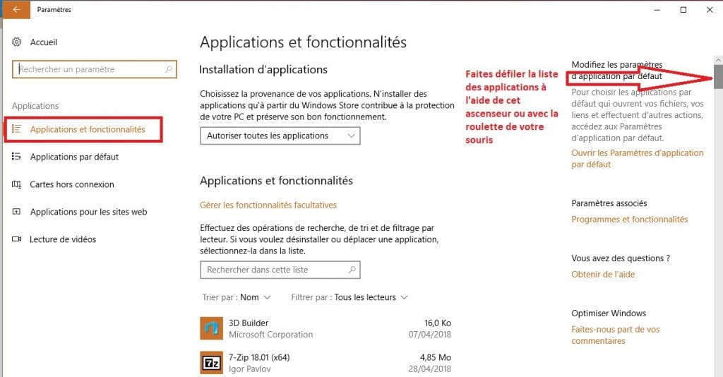 Empêcher Windows 10 installer applications à votre insu,aide.