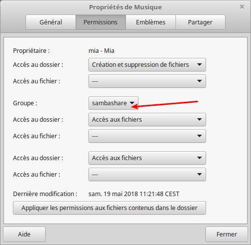 Partagez vos fichiers sous Linux tutoriel capture 9