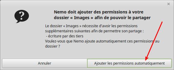 Partagez vos fichiers sous Linux tutoriel capture 8