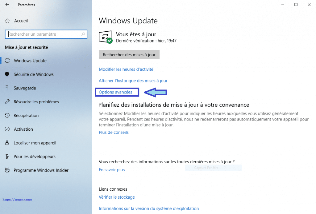 Windows 10 limiter la bande passante allouée à Windows Update.