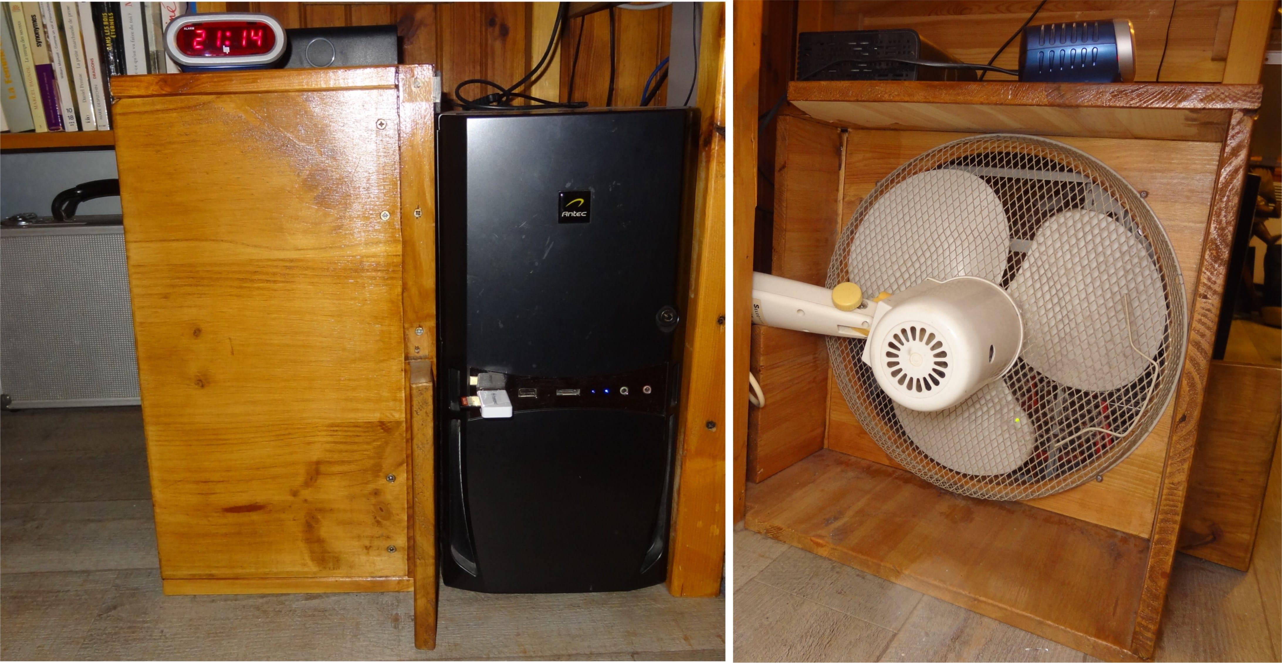ordinateur et ventilateur