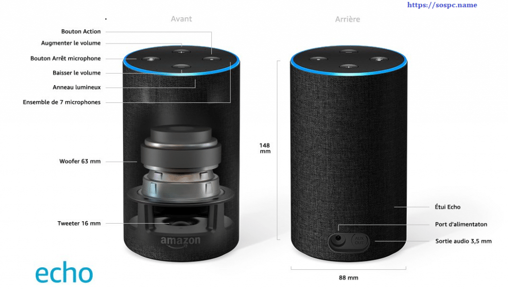 Amazon Echo descriptif.