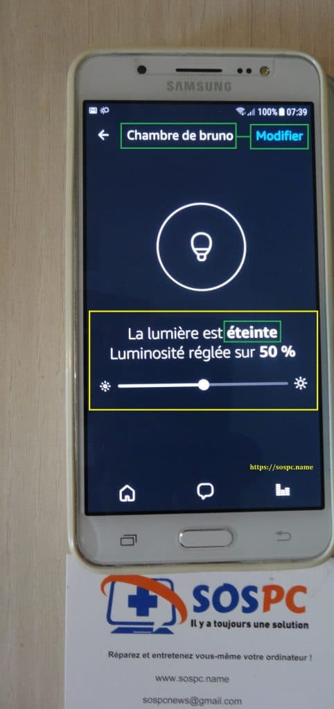 Amazon Echo / Echo Dot : test du Kit d'éclairage Philips Hue., changement nom de l'ampoule 5.