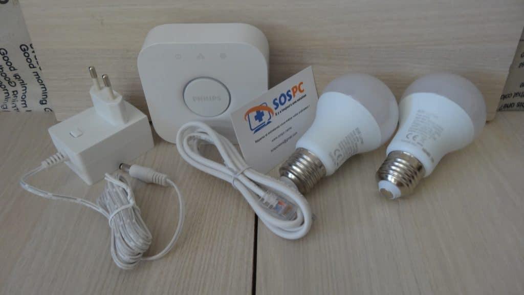 Amazon Echo / Echo Dot : test du Kit d'éclairage Philips Hue. Unboxing 3