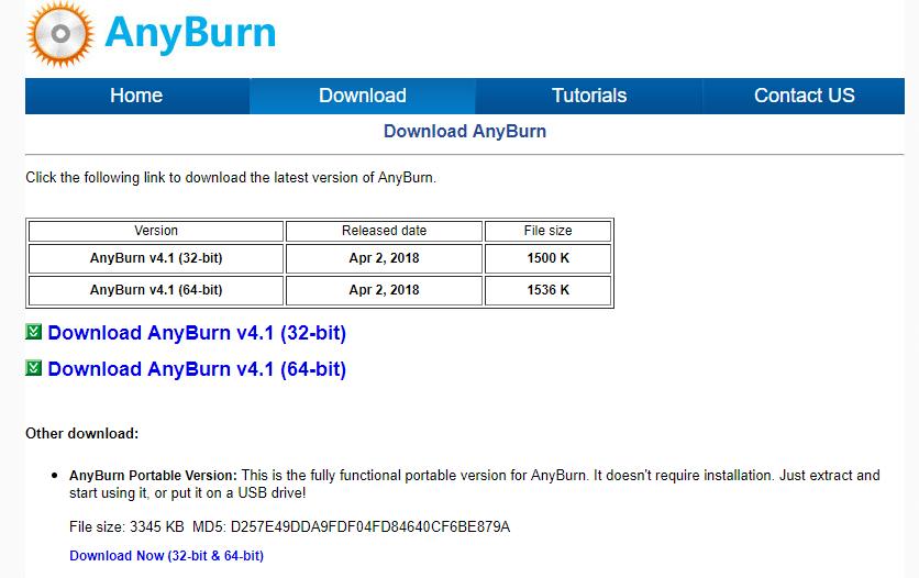 Télécharger Anyburn, un logiciel de gravure gratuit
