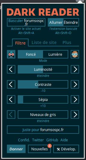 Thèmes sombres pour Firefox.