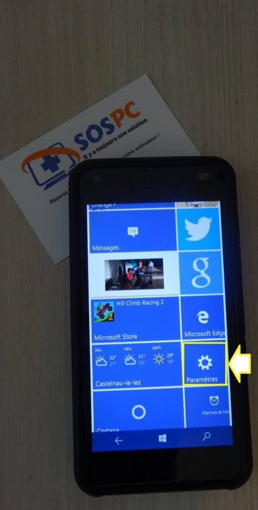 Windows Phone utilisez le partage de connexion. Tutoriel détaillé sur Sospc.