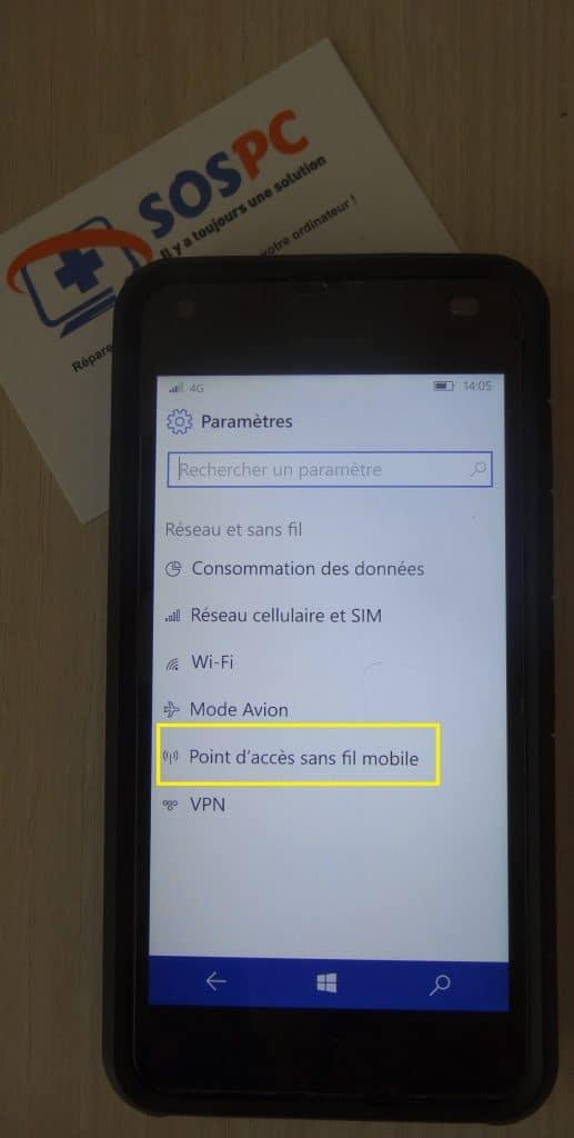Utilisez votre téléphone pour connecter votre ordinateur portable sur le réseau 4G.