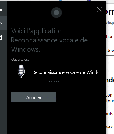 Reconnaissance vocale sous Windows 10, tutoriel.