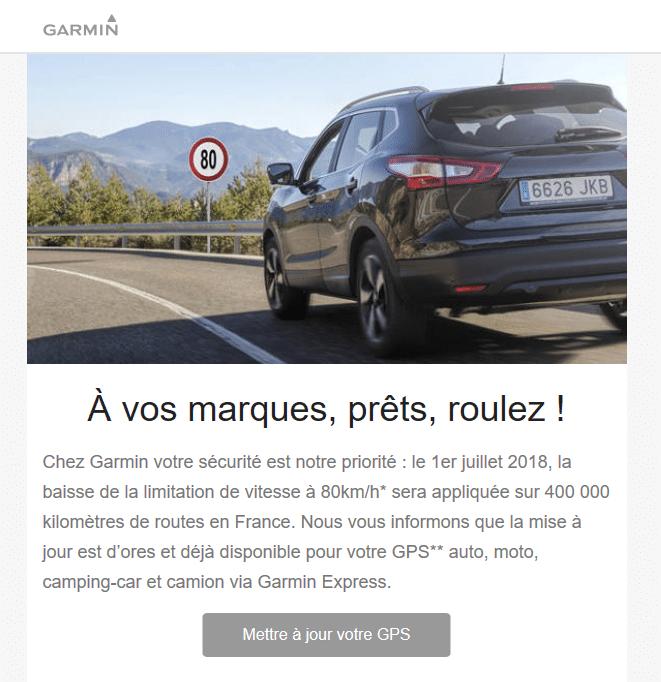 Limitation à 80 Km/h au lieu de 90 : avez-vous mis à jour votre GPS ? Sospc.name.
