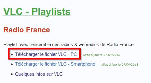 Mieux connaitre VLC, Écouter des radios sospc.name. paramétrages.