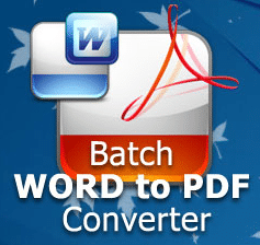 Batch WORD to PDF Converter, convertissez facilement vos fichiers en PDF.