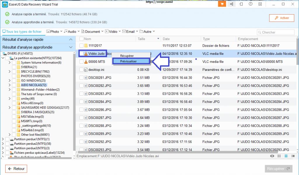 EaseUS Data Recovery Wizard Pro 12.0. Tutoriel d'utilisation, explications.