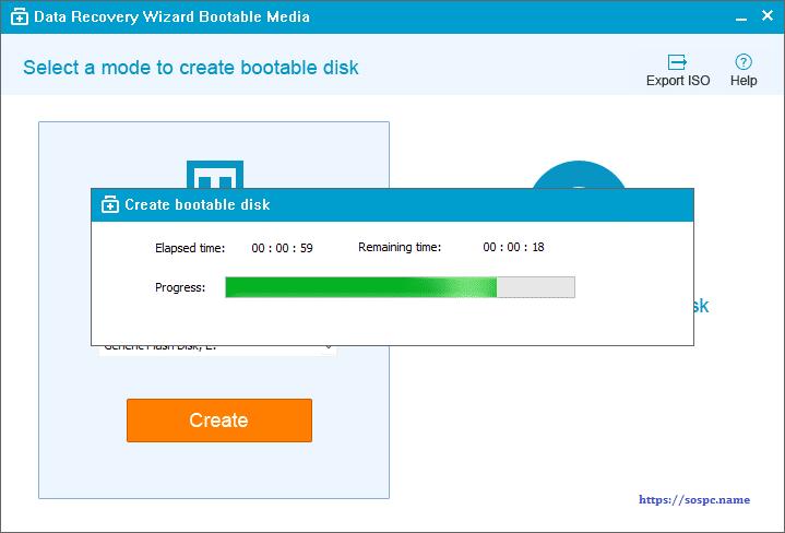 EaseUS Data Recovery Wizard tutoriel création média bootable. SOSPC.name.
