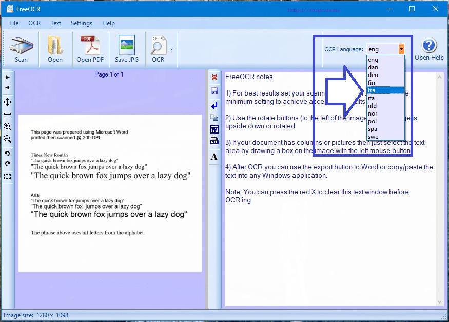 FreeOCR logiciel gratuit de reconnaissance de caractères, tutoriel