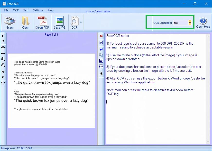 FreeOCR logiciel gratuit de reconnaissance de caractères, tutoriel complet