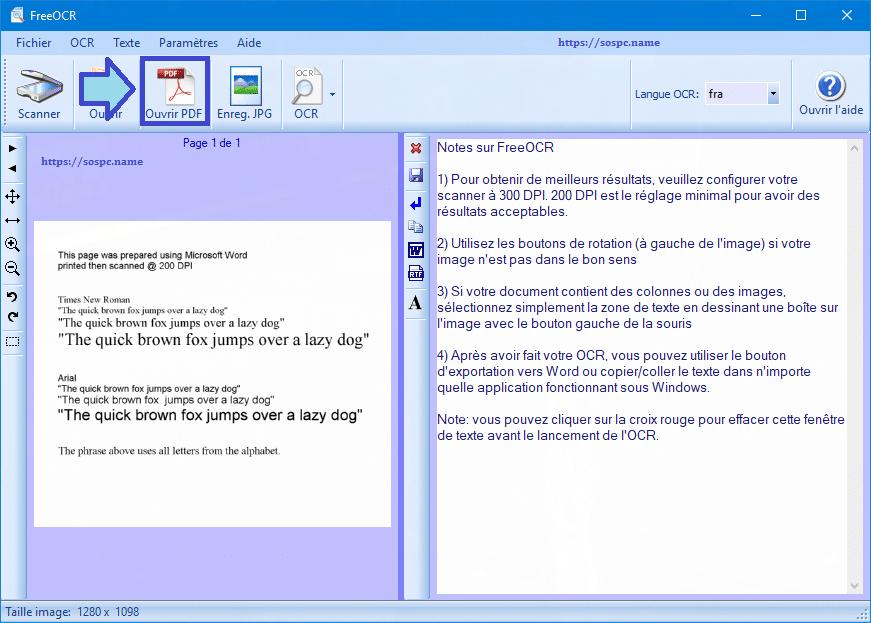 FreeOCR : exemples d'utilisation