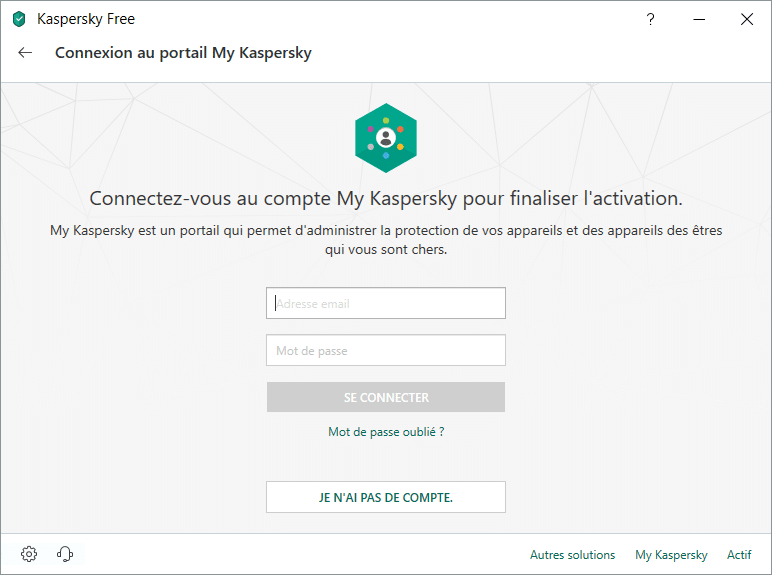 Kaspersky Free Antivirus 2019, tutoriel d'installation capture 13