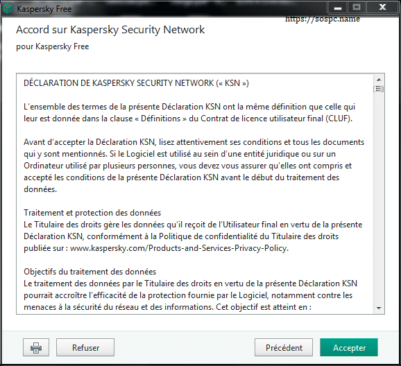 Kaspersky Free Antivirus 2019, tutoriel d'installation capture 5