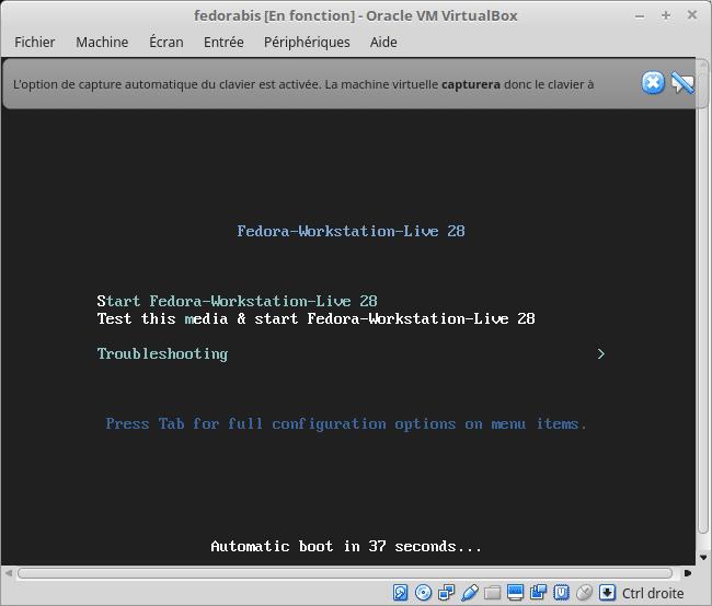 Linux tutoriel installation et utilisation de Fedora capture 12