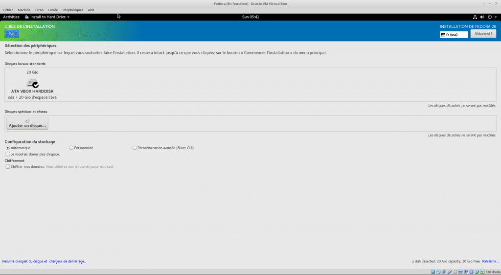 Linux tutoriel installation et utilisation de Fedora capture 18