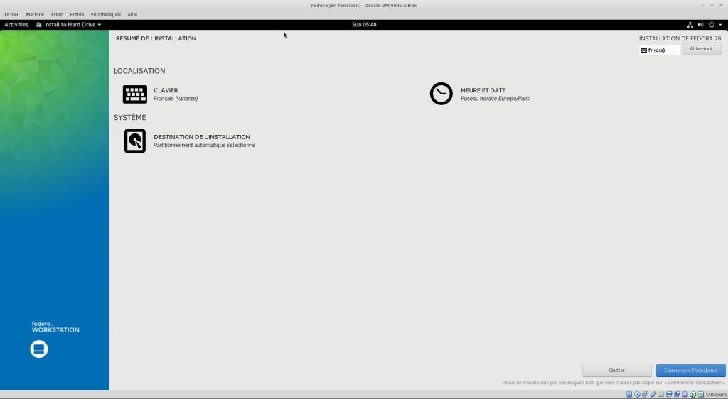 Linux tutoriel installation et utilisation de Fedora capture 19