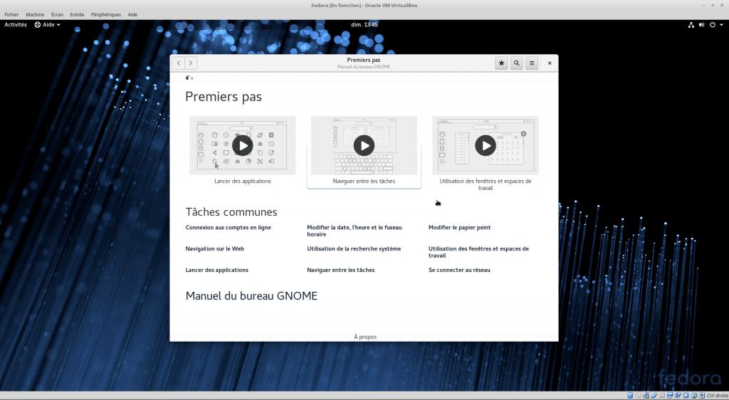 Linux tutoriel installation et utilisation de Fedora sospc.name capture K