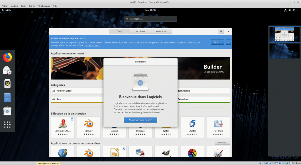 Linux tutoriel installation et utilisation de Fedora sospc.name capture M