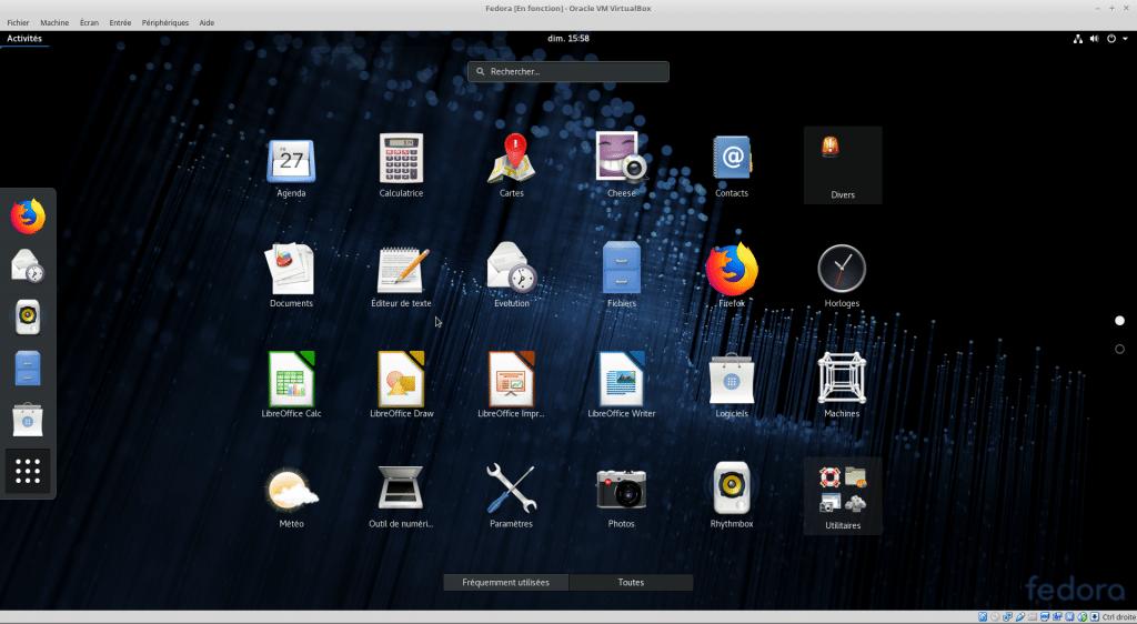 Linux tutoriel installation et utilisation de Fedora sospc.name capture P