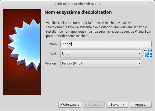 Linux tutoriel installation et utilisation de Fedora capture 2