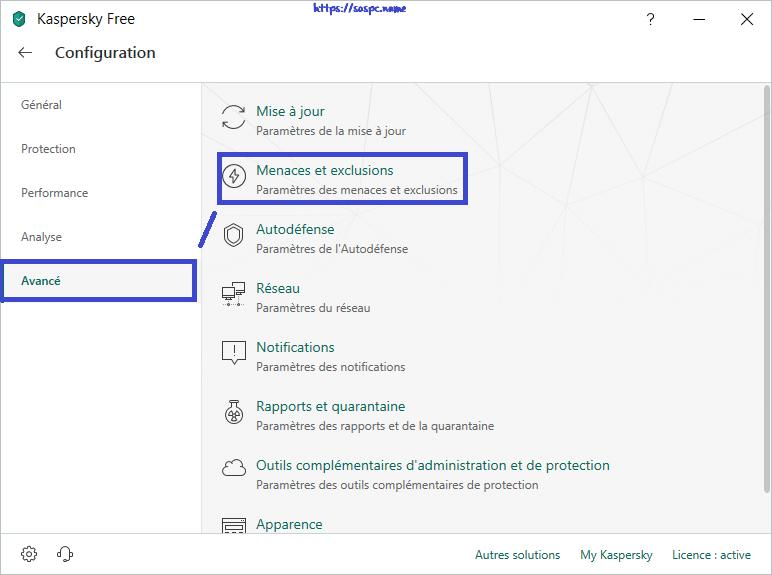 AppAudioConfig réglages antivirus Kaspersky 1