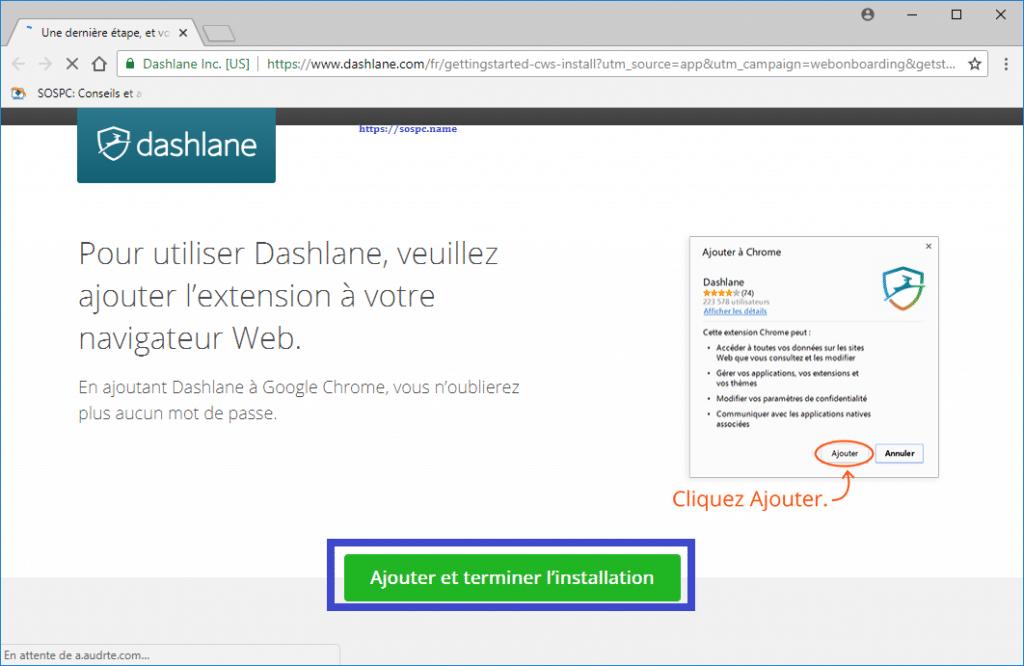 Dashlane gestionnaire de mots de passe capture d'écran 11